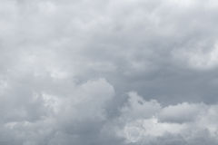 Rainy clouds flying over horizon. Stock Images