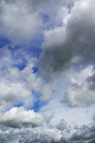 Rainy clouds flying over horizon. Stock Photography