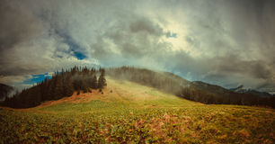 Rainy clouds in mountains Royalty Free Stock Photography