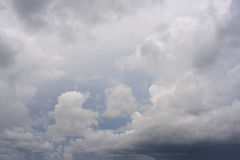Rainy clouds. Multiple layers of ominous storm Rainy clouds royalty free stock photography