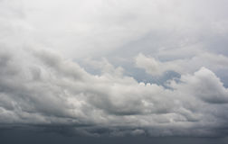 Rainy clouds. Multiple layers of ominous storm Rainy clouds royalty free stock photo