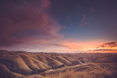 Rainy clouds over the valley. Sumba island. stock photography