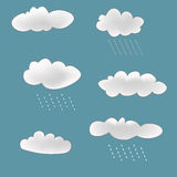 Rainy Clouds Set Royalty Free Stock Photos