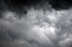 Rainy clouds starting rain Royalty Free Stock Image