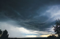 Rainy clouds. Stormy weather with incoming rain Stock Photography