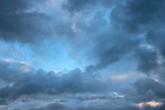 Rainy Cloudy Sky Before The Storm. Royalty Free Stock Photography