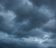 Rainy cloudy sky before the storm. Stock Image
