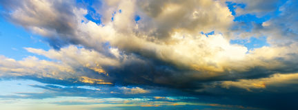 Rainy cloudy sky Stock Images