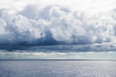 Rainy clouds over Atlantic Ocean Royalty Free Stock Images