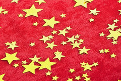 Rainy confetti. Red background Royalty Free Stock Photos