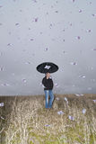 It is a rainy day. Royalty Free Stock Photo
