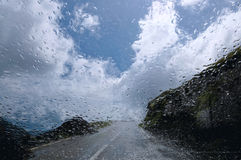 Rainy day. Transfagarasan from Romania, rainy day stock photo