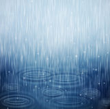 A rainy day. Background with rain and waves on the drops. Eps 10 Royalty Free Stock Image