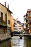 Rainy day at Annecy town Stock Photography