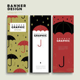 Rainy day banner template Stock Photo