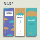 Rainy day banner template Stock Photography