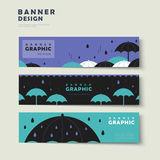 Rainy day banner template Royalty Free Stock Photos