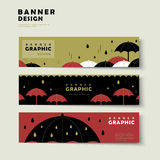 Rainy day banner template Royalty Free Stock Photo
