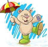 Rainy Day Bear Stock Image