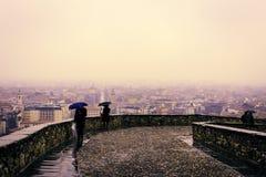 Rainy day in Bergamo Royalty Free Stock Photos