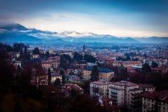 Rainy day in Bergamo Royalty Free Stock Images