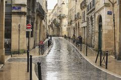 Rainy day in Bordeaux Stock Photography