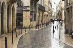 Rainy day in Bordeaux Royalty Free Stock Photos