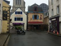 Rainy day in Brittany stock photography