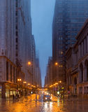 A rainy day in Chicago, illinois, USA Stock Image