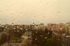 Rainy day in the city Royalty Free Stock Images