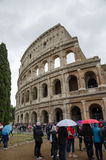 Rainy day at Colosseum, Rome, Italy Royalty Free Stock Photo