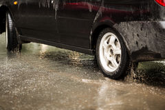 Rainy day, dirty car Royalty Free Stock Photography