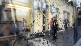 Rainy day. Droplets of rain on my window Stock Photo