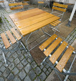 Rainy day in Fuessen Royalty Free Stock Photo