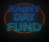 Rainy day fund concept. royalty free stock photo