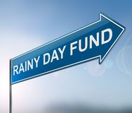 Rainy day fund concept. royalty free stock photography