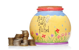 Rainy day fund Stock Photos