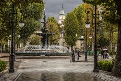 A rainy day  in Granada, Spain Stock Image