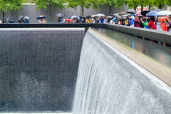 Ground Zero, sombre rainy day Royalty Free Stock Photos