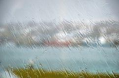 A rainy day in Hafnarfjordur stock photo
