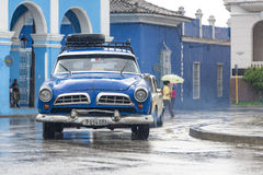 Rainy Day in the Historic District, Sancti Spiritus,Cuba Royalty Free Stock Image