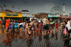 Free Rainy Day In Cony Island Stock Image - 127620321