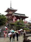 Rainy day at a japanese temple Royalty Free Stock Photography
