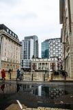 Rainy day in London stock image