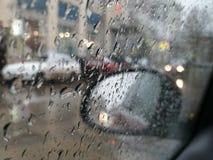 Rainy day. Rainy March day stock photo