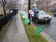Rainy Day at the Midterm Election royalty free stock images