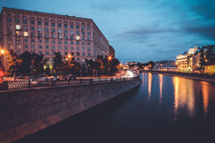 Rainy day in Moscow Stock Photography