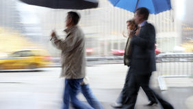 Rainy day motion blur Stock Images