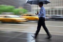 Rainy day motion blur Royalty Free Stock Photos