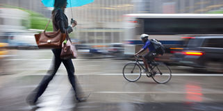Rainy day motion blur Royalty Free Stock Images